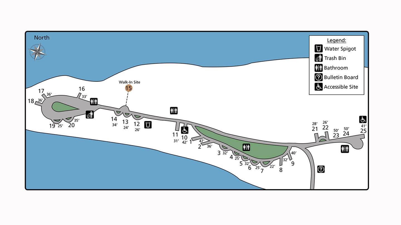 Marcus Island Site Map
