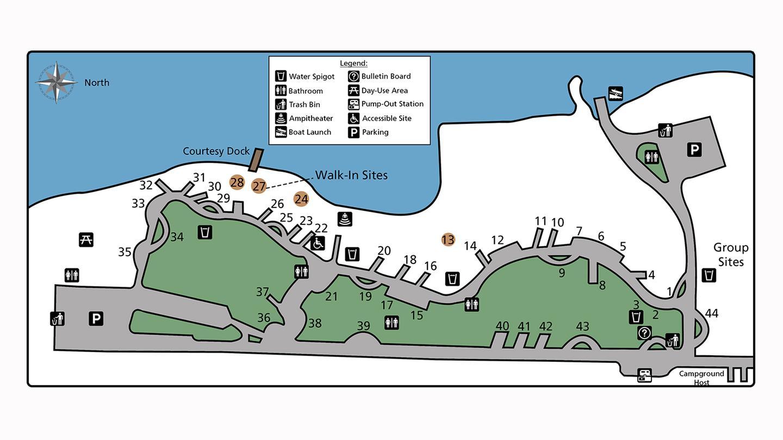 Evans Campground Map