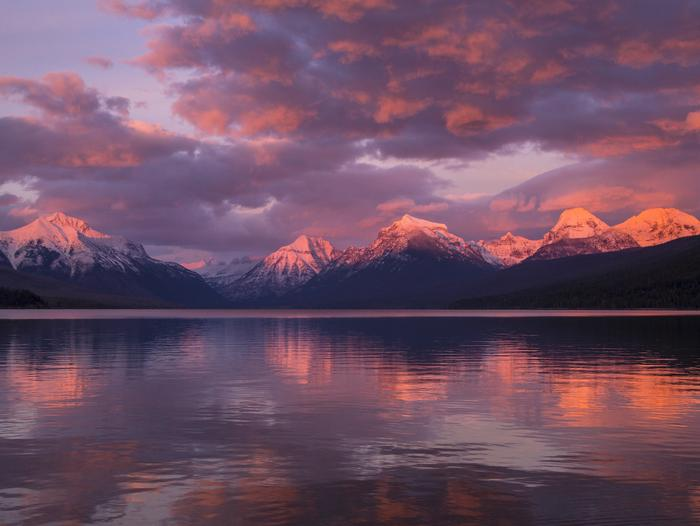 Sunset over Lake McDonald in Glacier National Park