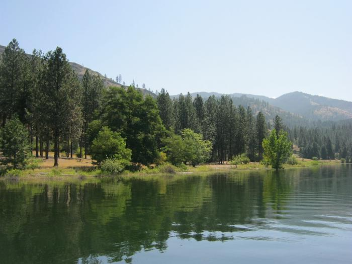 View from water to Gifford Campground.