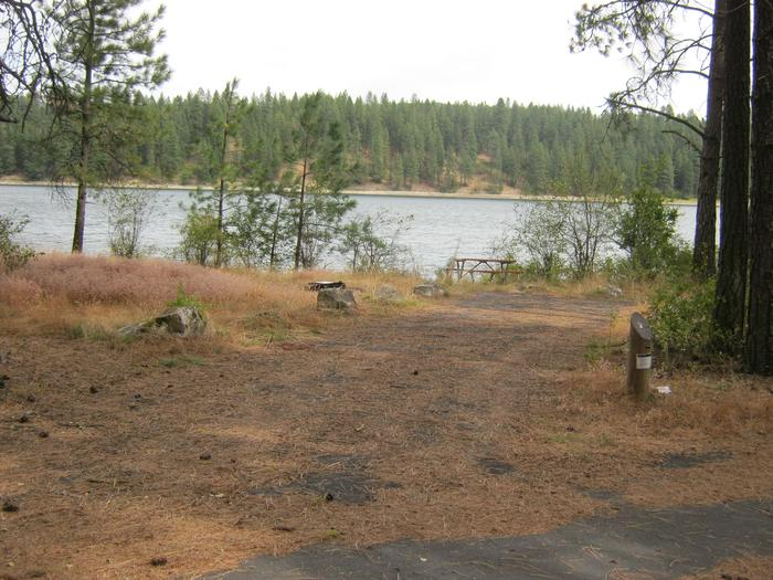 Site 2. Back in site with trees and lake in the background.