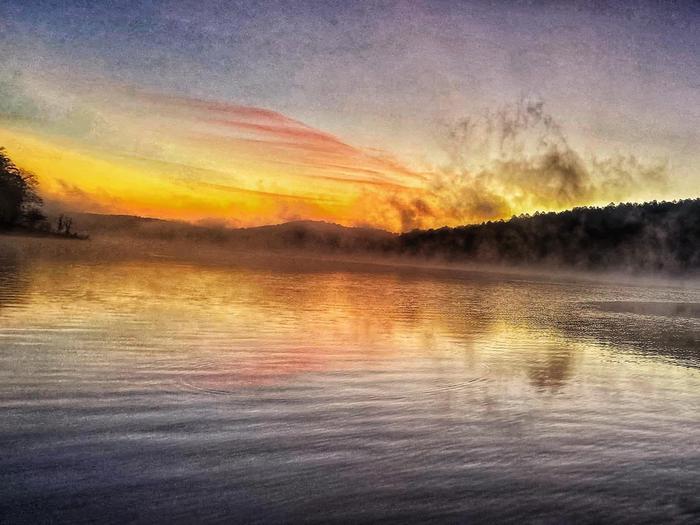 Sunrise on Dierks Lake