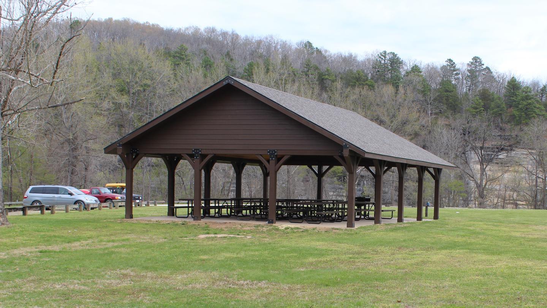 View of Ozark PavilionOzark Pavilion within Ozark Campground