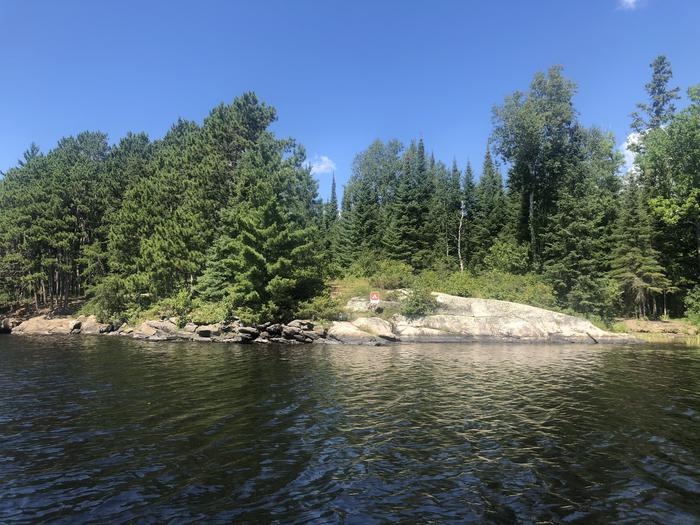 View of N49 Your Island campsite from the water