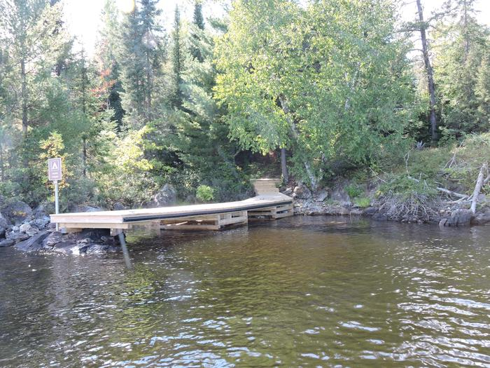 View of S29 Sand Point campsite and dock from the water