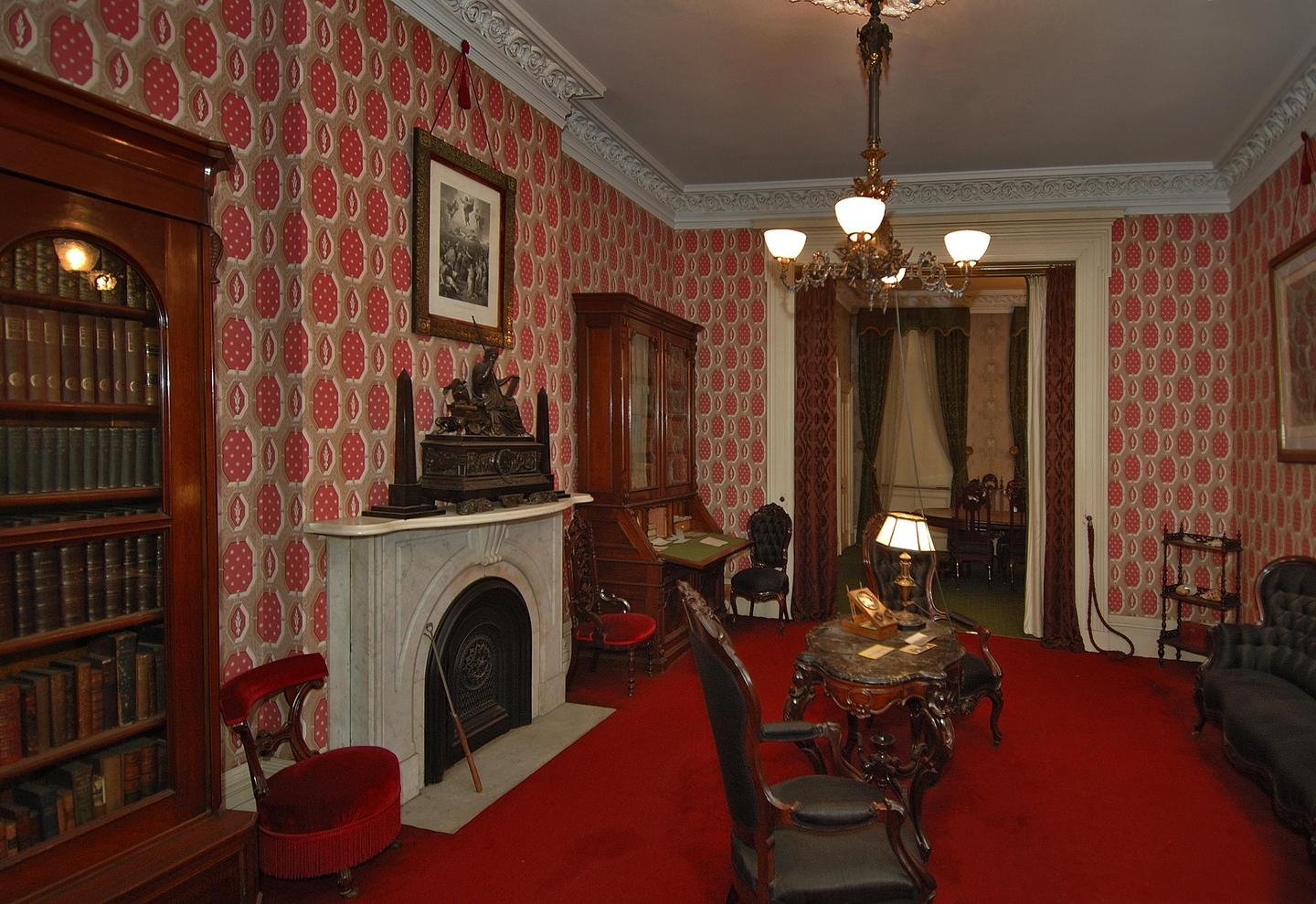 LibraryThe middle parlor, or library, at Theodore Roosevelt Birthplace