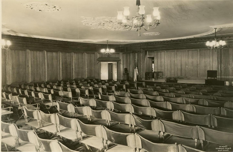 Historic AuditoriumA historic photo of the auditorium (4th floor) when museum opened in 1923.