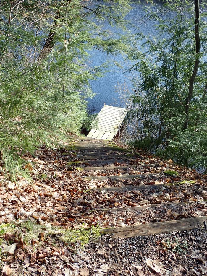 P14 dockTrail leading down to dock at Site P14