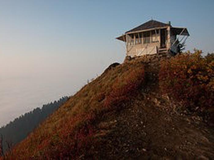 lookout cabin EvergreenEvergreen Mt
