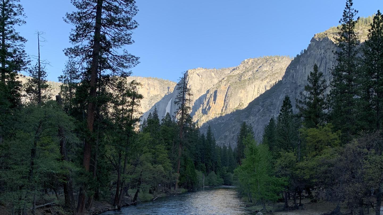 Yosemite Falls in the distance