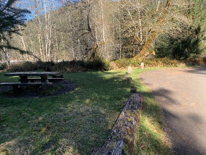 A16View of campsite (parking area and picnic table)