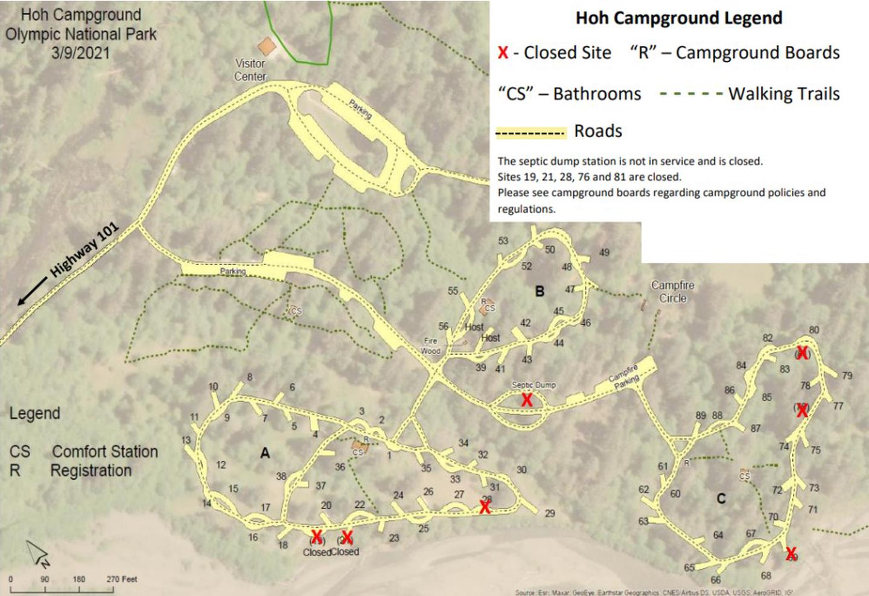 Hoh Campground MapMap