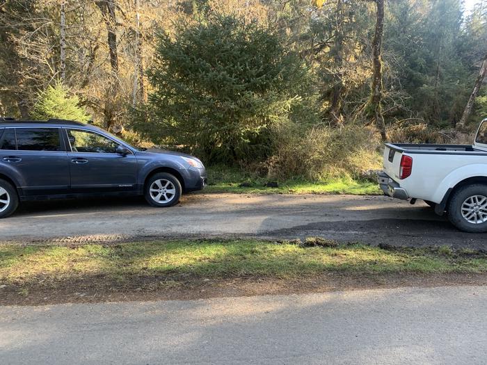 cars in campsiteCampsite A 22