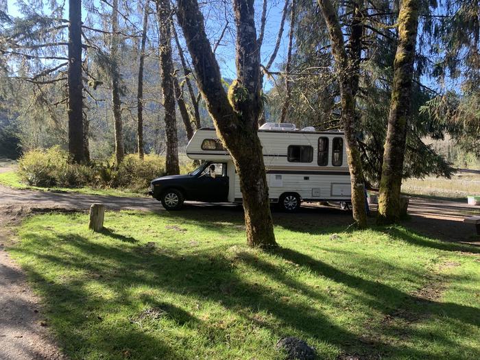 camper in campsiteCampsite A23
