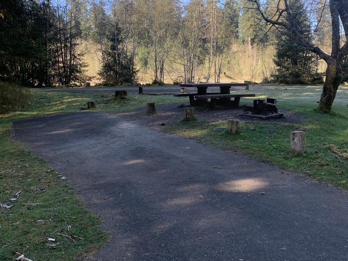 Picnic table in campsiteCampsite A 31