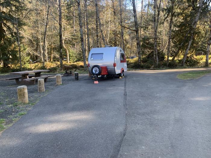 small trailer in campsiteSite A 38