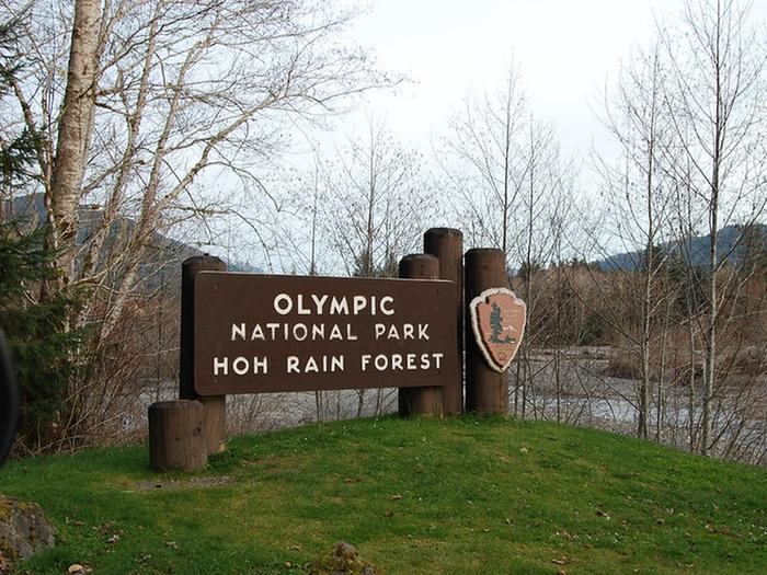 Hoh Entrance SignEntrance Sign to the Hoh Rainforest