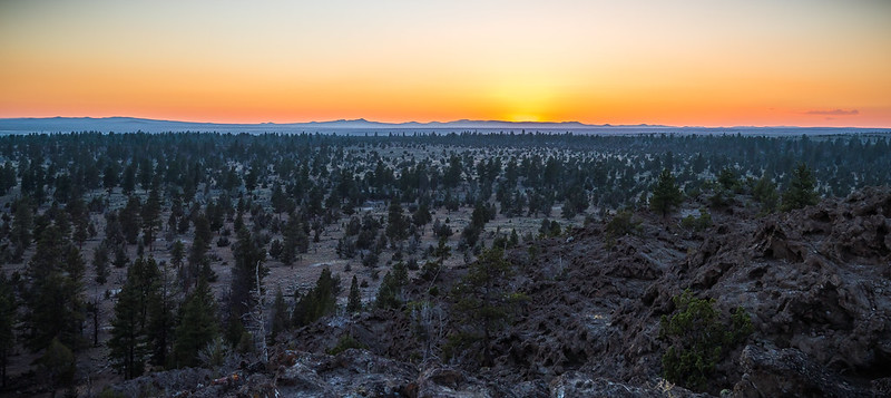 Sunset atop Sand Rock in Lost Forest