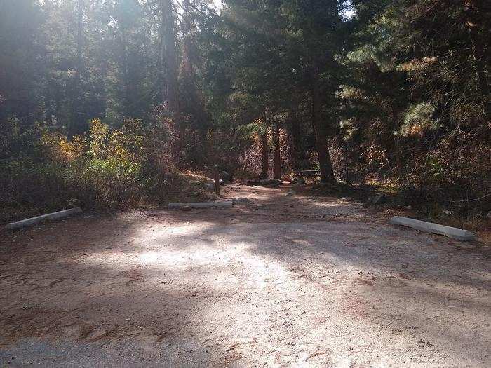 Parking beams in front a a campsite.Parking for spot 4 is spacious.  Please remember that individual sites cannot be reserved.  Hayfork Group Campground can only be reserved as a whole.