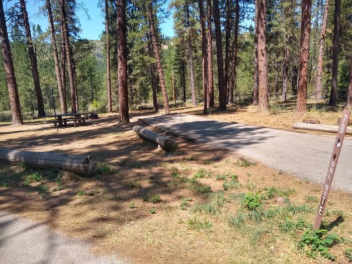 A paved driveway for a double campsite.Site 7B is a Double Site.