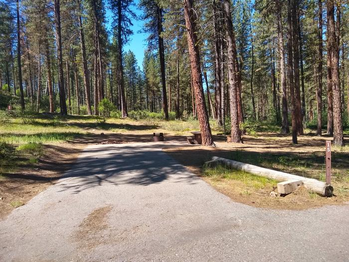 Paved driveway to site 15.Site 15 at Grayback Gulch.