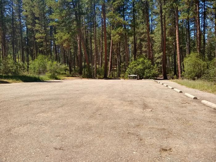 A large parking lot with parking beams for Grayback Group A.Grayback Group Site A parking lot.