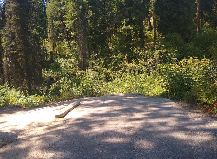 A paved parking area for Bad Bear Site 3, a double site.Parking spot for Bad Bear Site 3, a double site.