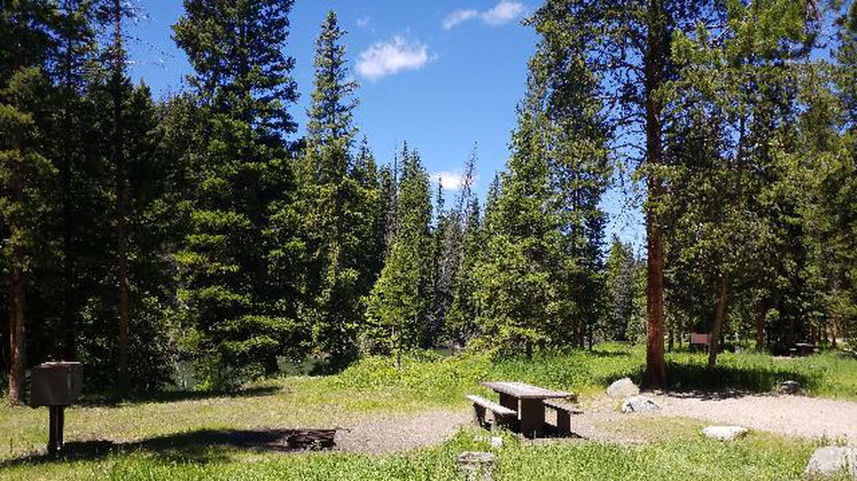 Hunter Peak Campsite 2 with picnic table and treesHunter Peak Campsite 2