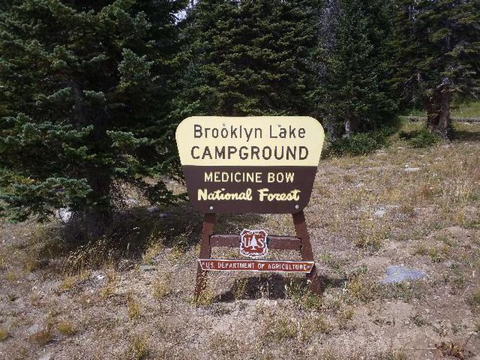 Brooklyn Lake Entrance Sign