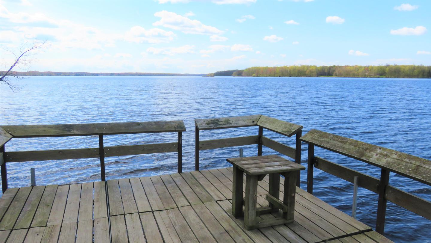PierView of lake from the accessible fishing pier
