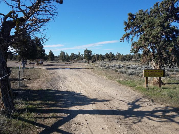 Entrance to Corral Off Highway Vehicle Staging Area