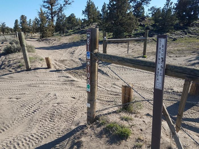 Trails access from Corral Off Highway Vehicle Staging Area