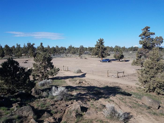 View of Corral Off Highway Vehicle Staging Area