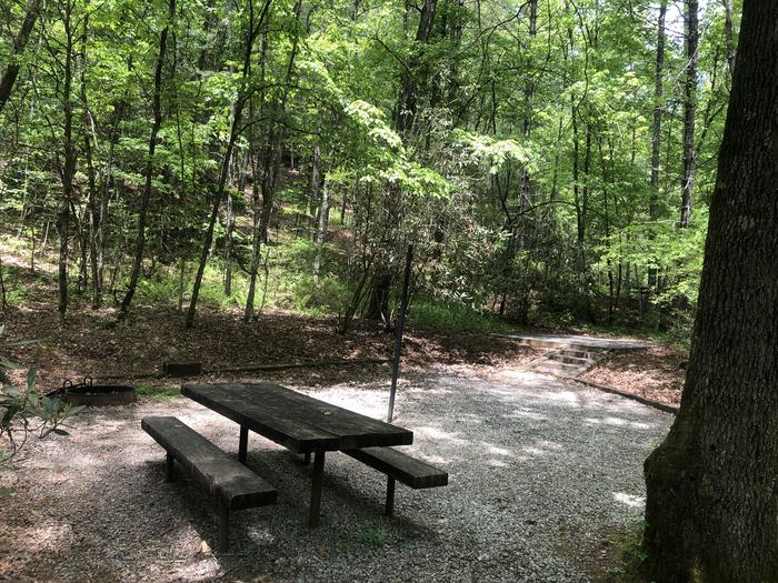 Large back in primitive site with adjacent tent pad