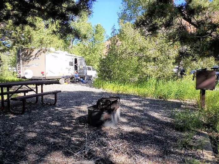 Wapiti Campsite 16 - Side View of Picnic Area