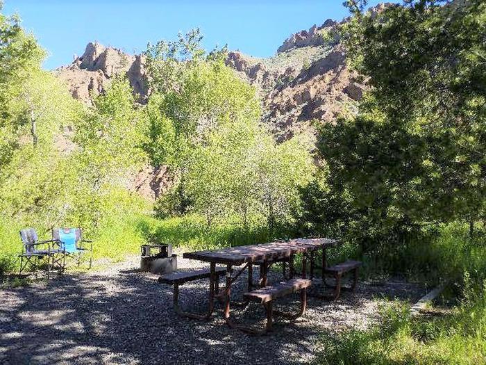 Campsite 19 Picnic Area with picnic table, fire ringCampsite 19 - Picnic Area