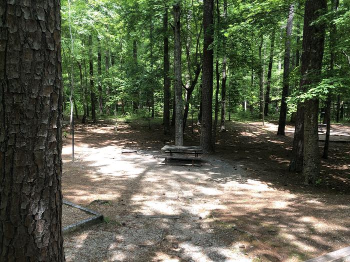 Large back in primitive site adjacent to restrooms.