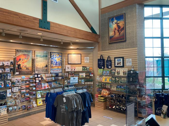 Visitor Center BookstoreStop by the bookstore for some very beautiful and informative reading materials and many other Indiana Dunes inspired memorabilia.