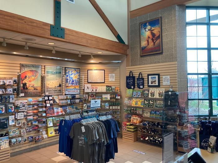 Visitor Center Museum ShopInterior: Indiana Dunes Visitor Center museum shop.