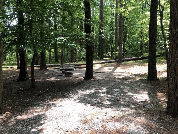 Large primitive back in site adjacent to restrooms and lake