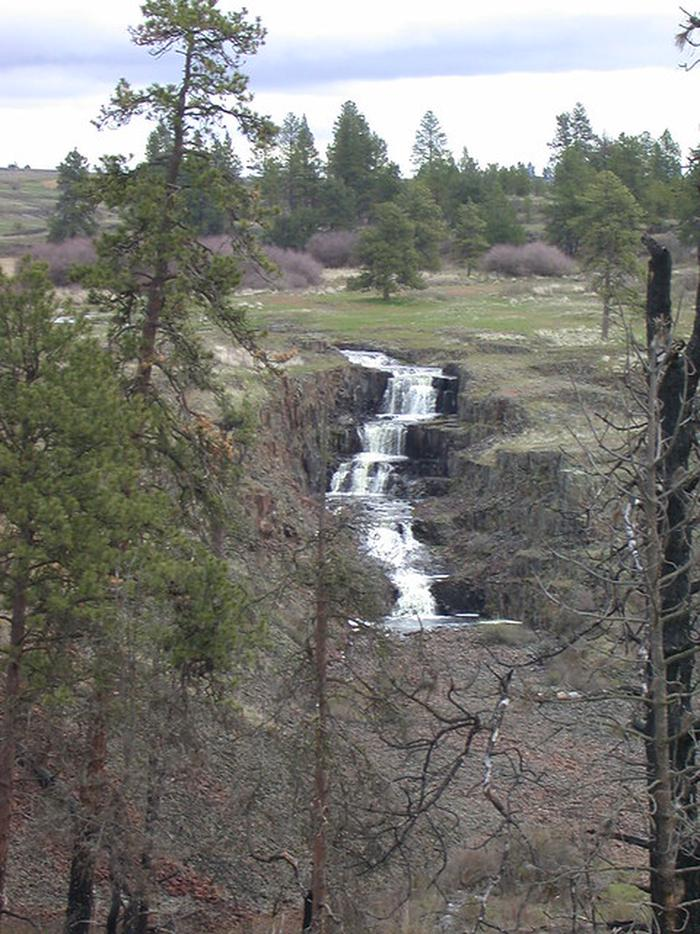 View of a cascade at Fishtrap Recreation Area.