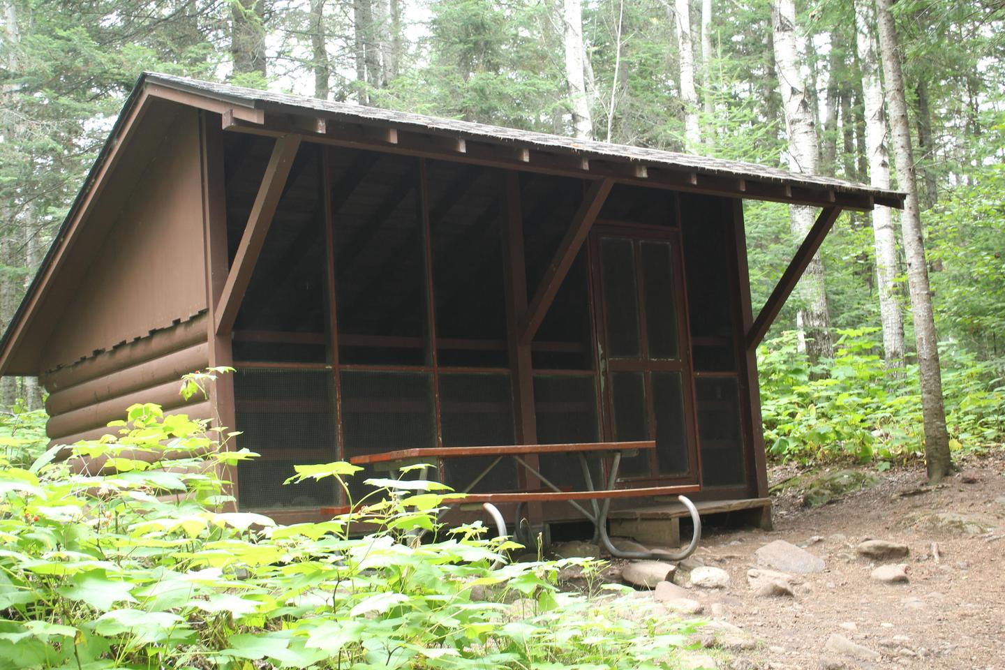 Daisy Farm Campground Shelter Site #19Shelters are popular camping spots on Isle Royale.