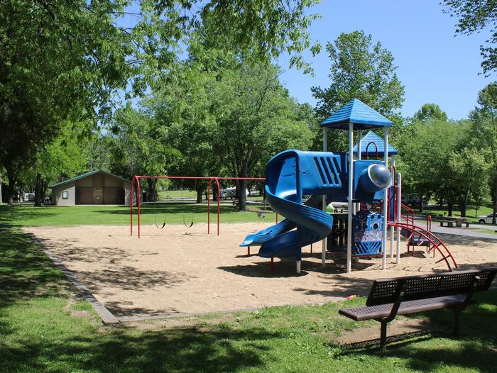 Defeated Creek Park PlaygroundOne of several playgrounds in Defeated Creek Campground for campers.