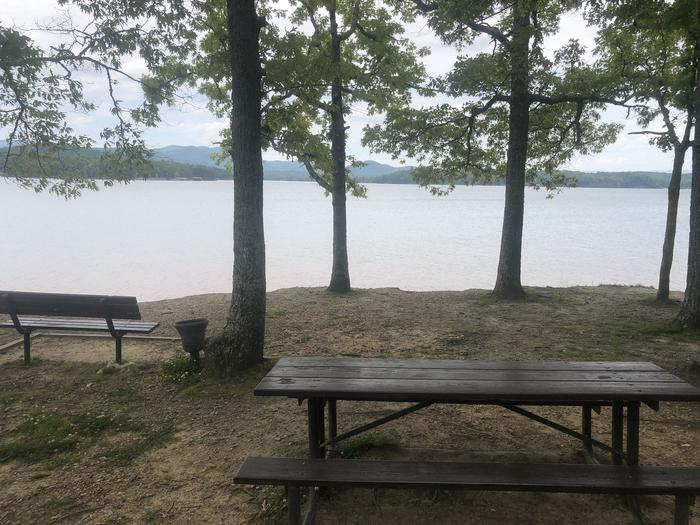 View from day use picnic area