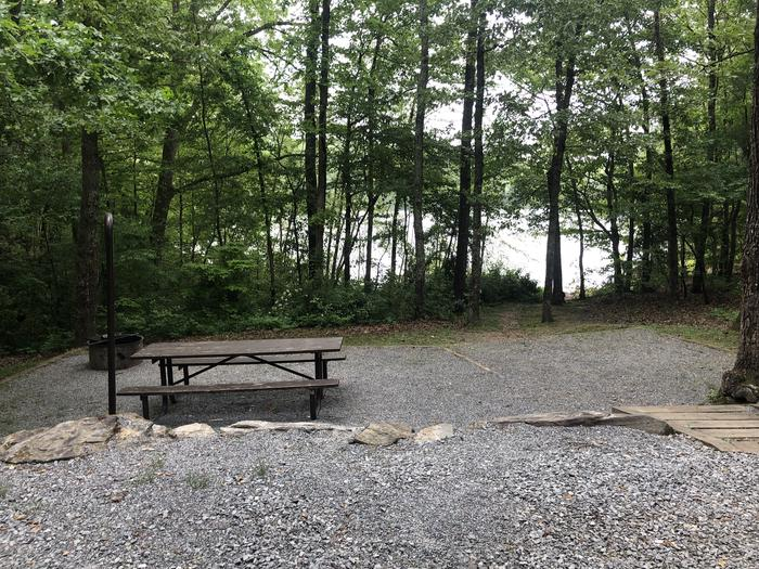 Lake view and access from adjacent tent pad