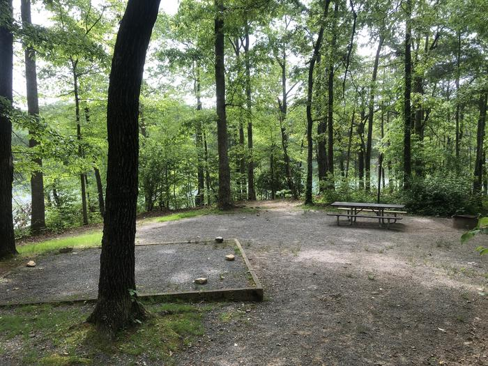 Large tent pad and dining area with lake view/access