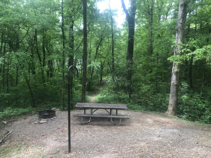 Dining area and lake access trail