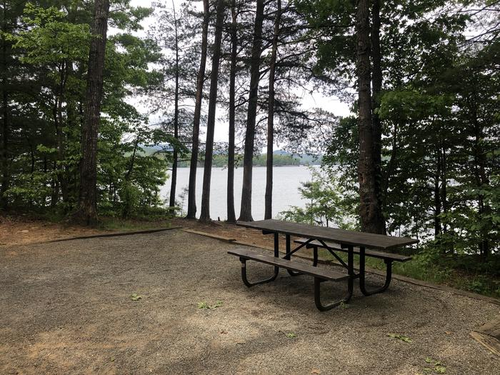Lake view from picnic table