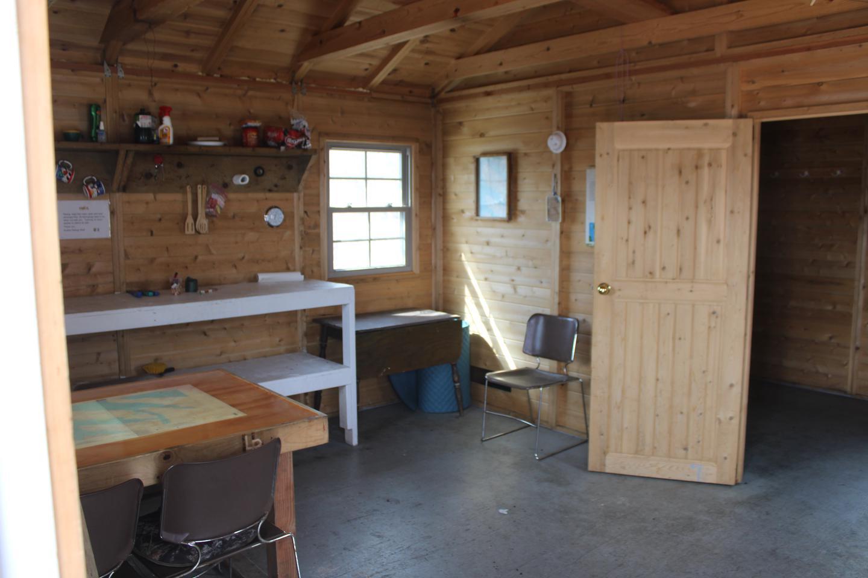 inside uganik island cabinUganik Island Cabin Inside