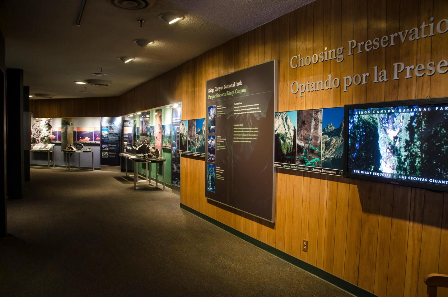 Kings Canyon Visitor CenterThe visitor center features several exhibits, including videos, tactile exhibits, and a movie theater.
